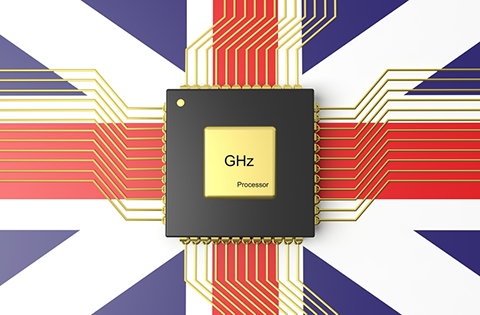 Picture of Union Jack with CPU overlay
