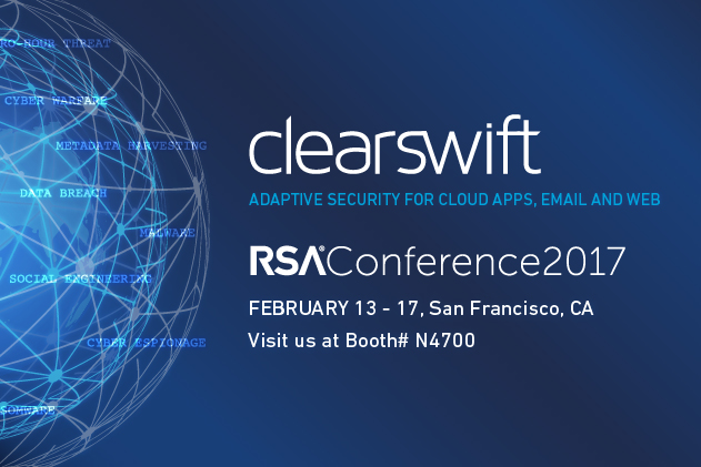 Visit Clearswift at the RSA Conference 2017