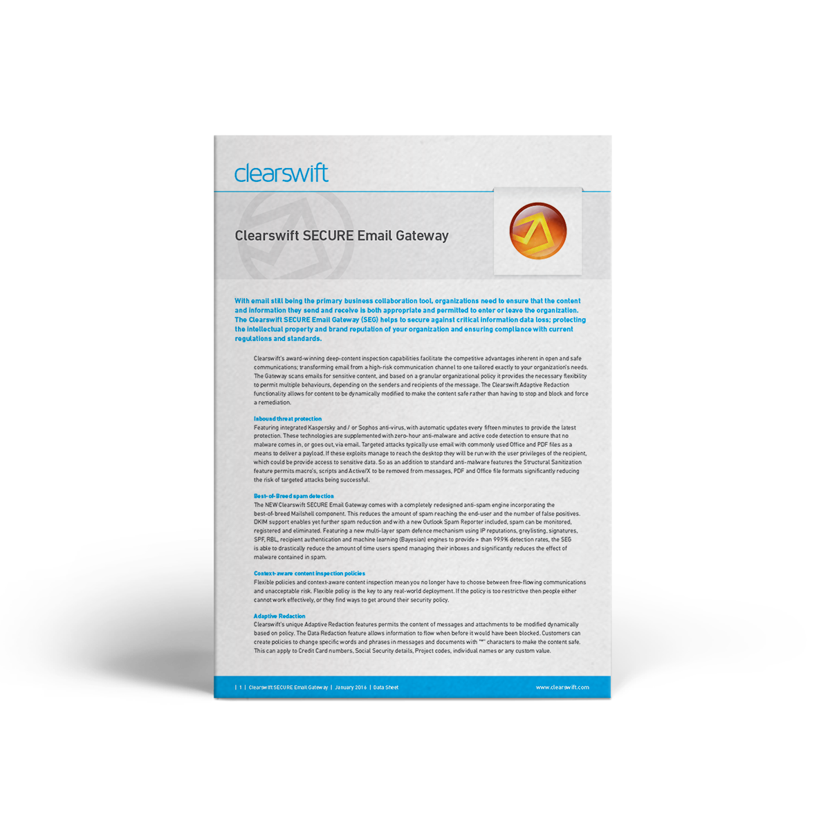 Clearswift SEG datasheet