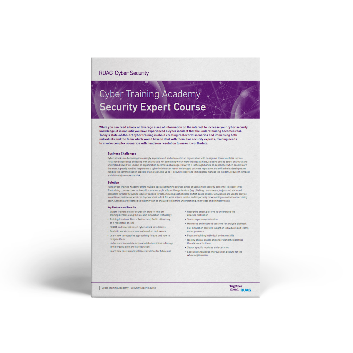 RUAG Cyber Services CTA Security Expert Course
